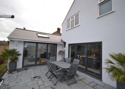 Single and two storey extension creating family living accommodation at Chickerell Road