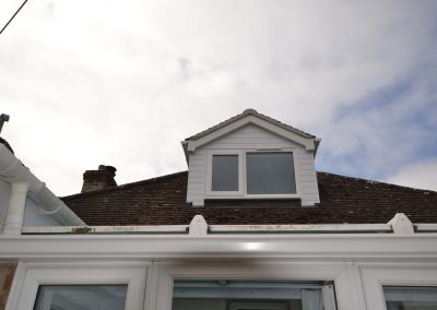 New front dormer window of roofspace conversion
