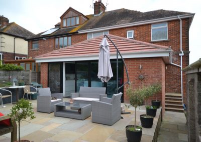 Single storey rear extension creating a new kitchen and dining room at Dorchester Road