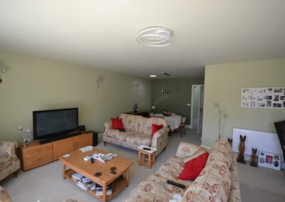 Internal view of completed two storey lounge, utility room and bedroom extensions