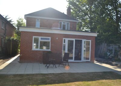 External view of completed of single storey kitchen and dining room extension