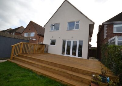 Two storey extension creating kitchen, dining room and two bedrooms at Weymouth Bay Avenue